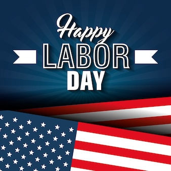 Happy labor day poster icon