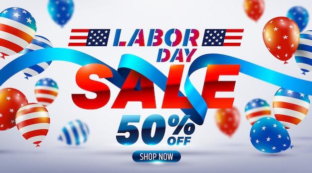 Happy labor day sale banner