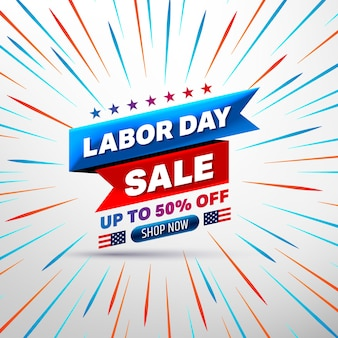 Happy labor day sale banner