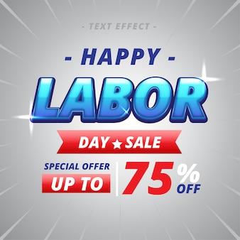 해피 노동절 판매 텍스트 효과
