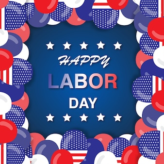 Happy labor day usa greeting card.