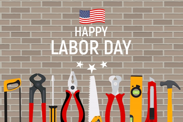 Happy labor day in usa greeting