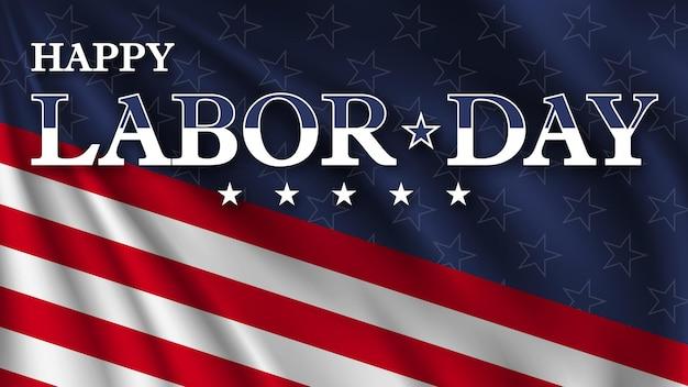 미국 국기 색상의 행복한 노동절 미국 노동절 인사말 카드