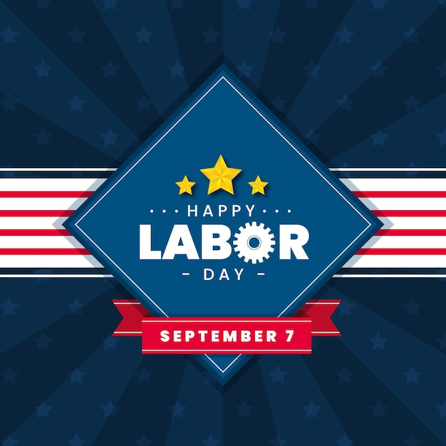 Happy labor day with with stars