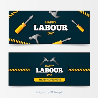 Happy labour day banner for web and social media