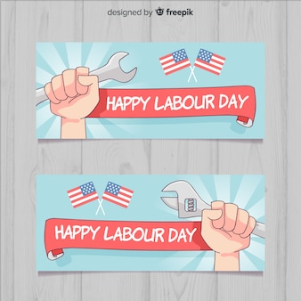 Happy labour day banners