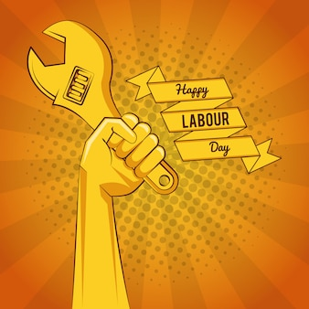 Happy labour day card