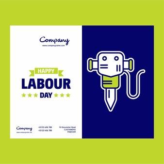 ハッピー労働の日の建設カード