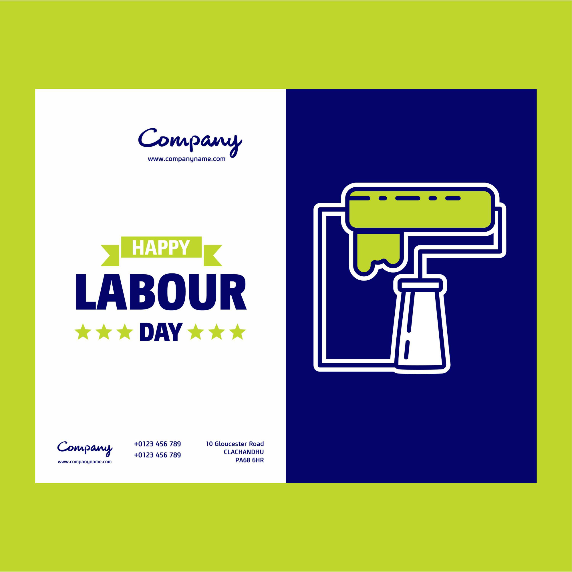 Happy Labour day design Paint Brush