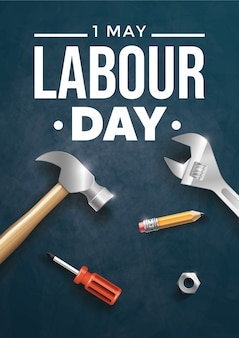 Happy labour day. design template. illustration