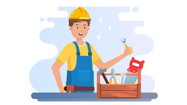幸せな労働者の日のイラストの背景