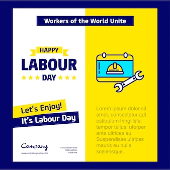 Happy labour day poster