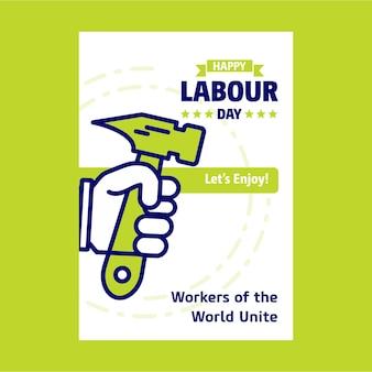 ハッピー労働の1日のポスター