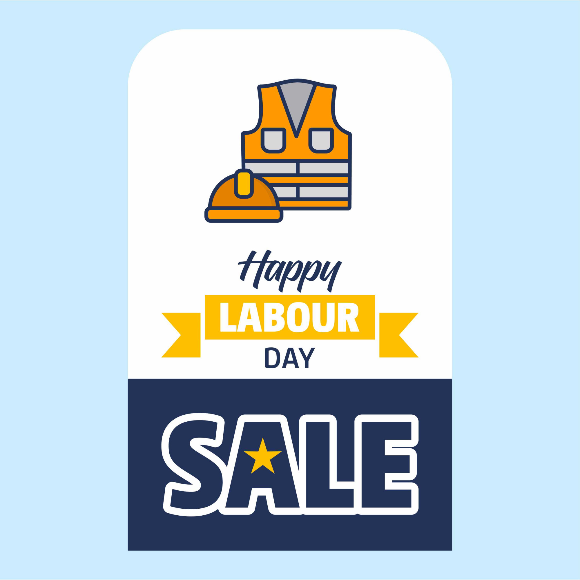 Happy Labour day Sale Design