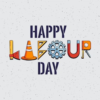 Happy labour day with tools