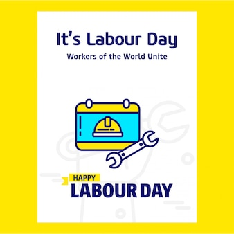 Happy labour day yellow