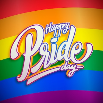 Happy lgbt pride day lettering