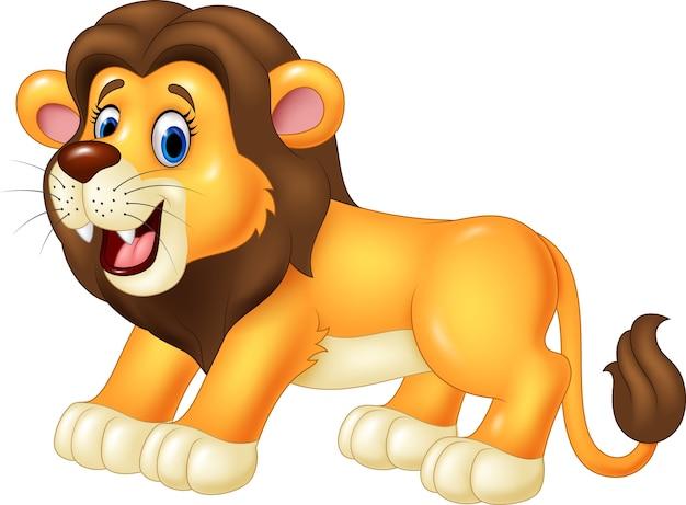 Счастливый мультфильм льва