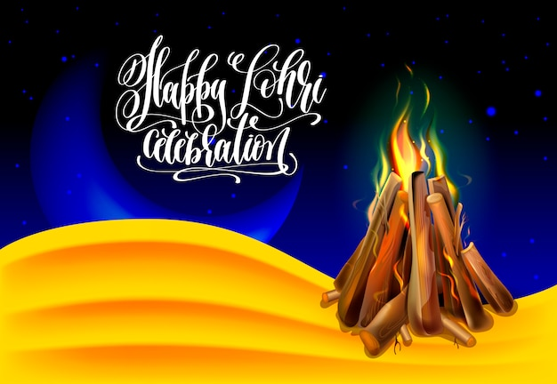 Happy lohri celebration greeting card