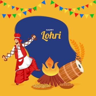 Happy lohri concept