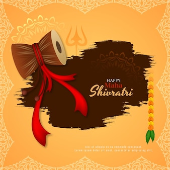 Happy maha shivratri cultural festival background vector