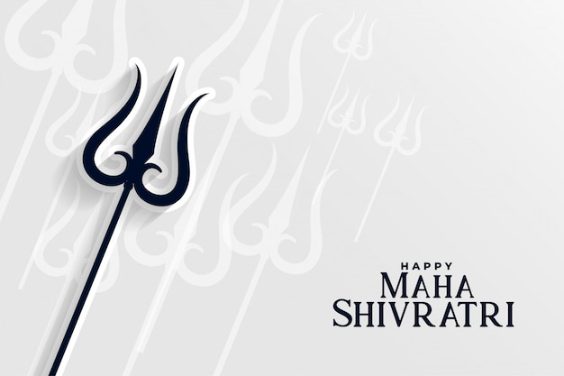 Happy maha shivratri hindu traditional festival background