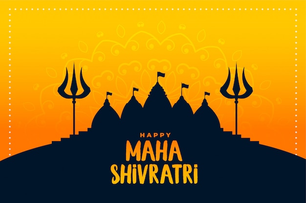 Happy maha shivratri traditional indian festival background