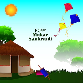 Happy makar sankranti celebration background