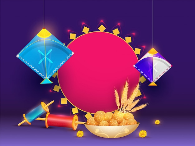 Happy makar sankranti illustration