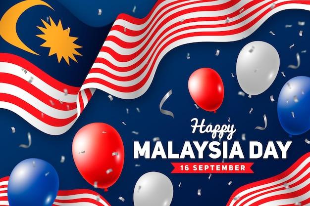 Happy malaysia day illustration
