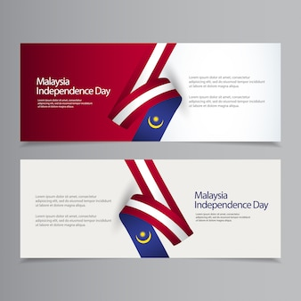 Happy malaysia independence day celebration banner