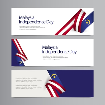Happy malaysia independence day celebration creative   template