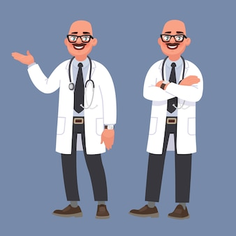 Happy male doctor. character of the medical worker