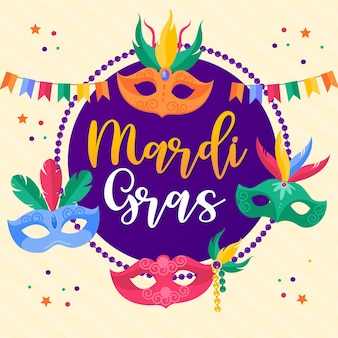 Happy mardi gras carnival card