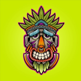 Happy mask illustration