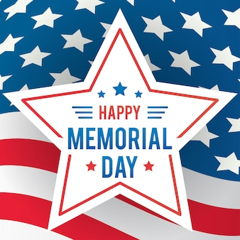 Happy memorial day greeting card vector illustration.