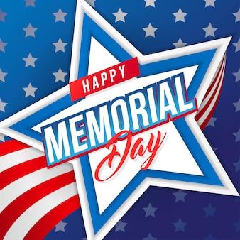 Happy memorial day greeting card