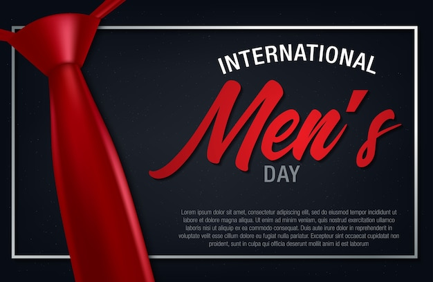 Happy men's day greetings card