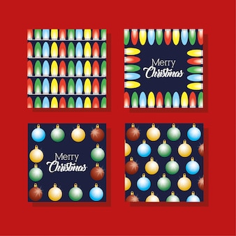 Happy merry christmas bundle of cards