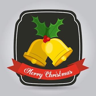 Happy merry christmas design, vector illustration eps10 graphic