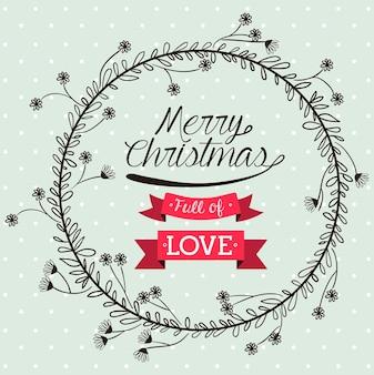 Счастливый рождественский дизайн