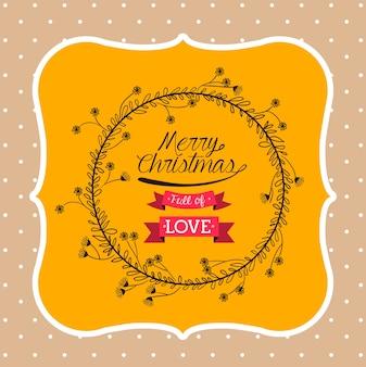 Happy merry christmas design