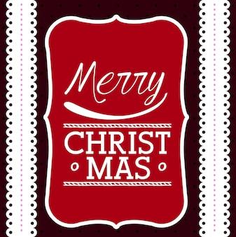 幸せなメリークリスマスデザイン