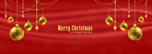 Happy merry christmas for greeting card poster banner