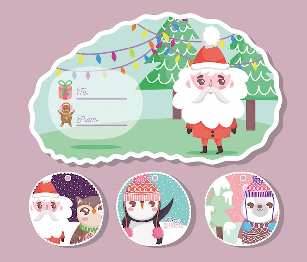 Happy merry christmas greeting card
