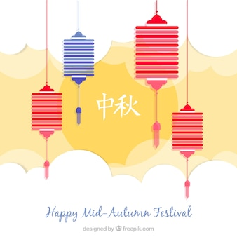 Happy mid autumn festival background