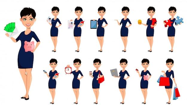 Happy modern business woman