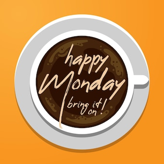 Happy monday abstract background