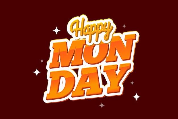 Felice lunedì sfondo rosso