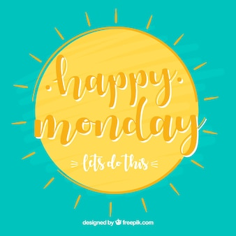 Happy monday, with a sun